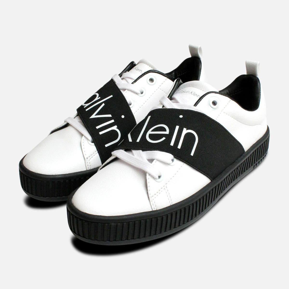 White with Black Calvin Klein Ladies