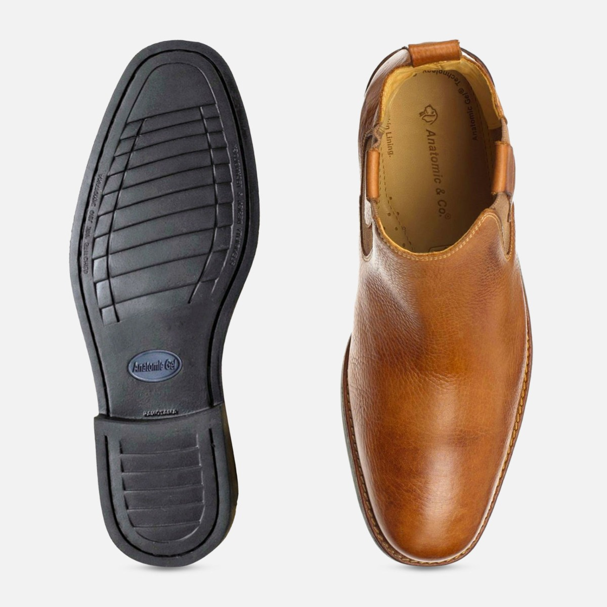 Formal Cognac Mens Chelsea Boots Anatomic & Co