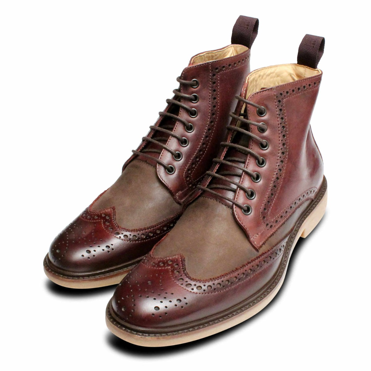 Anatomic By New Tone Burgundy Shoes Boots Brogue Two xSxCYWwqf