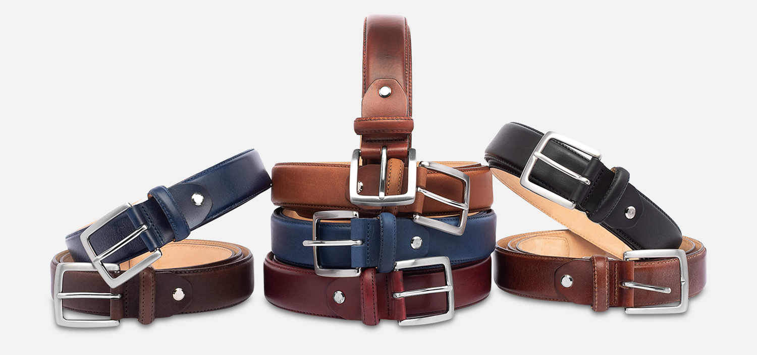 Black Leather Arthur Knight Belt Made in England