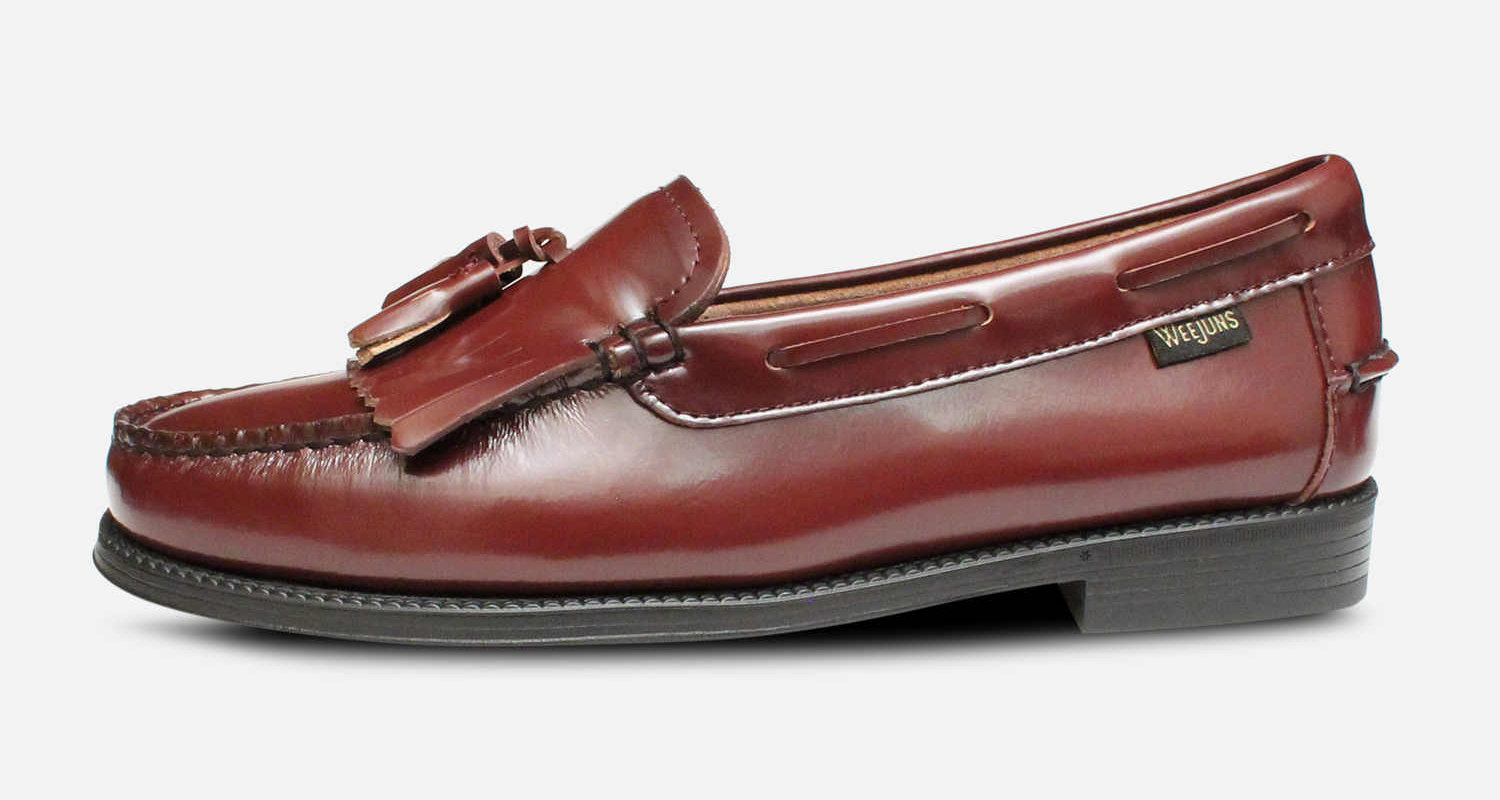 Bass Rubber Sole Ladies Esther Kiltie Burgundy Loafer Shoes