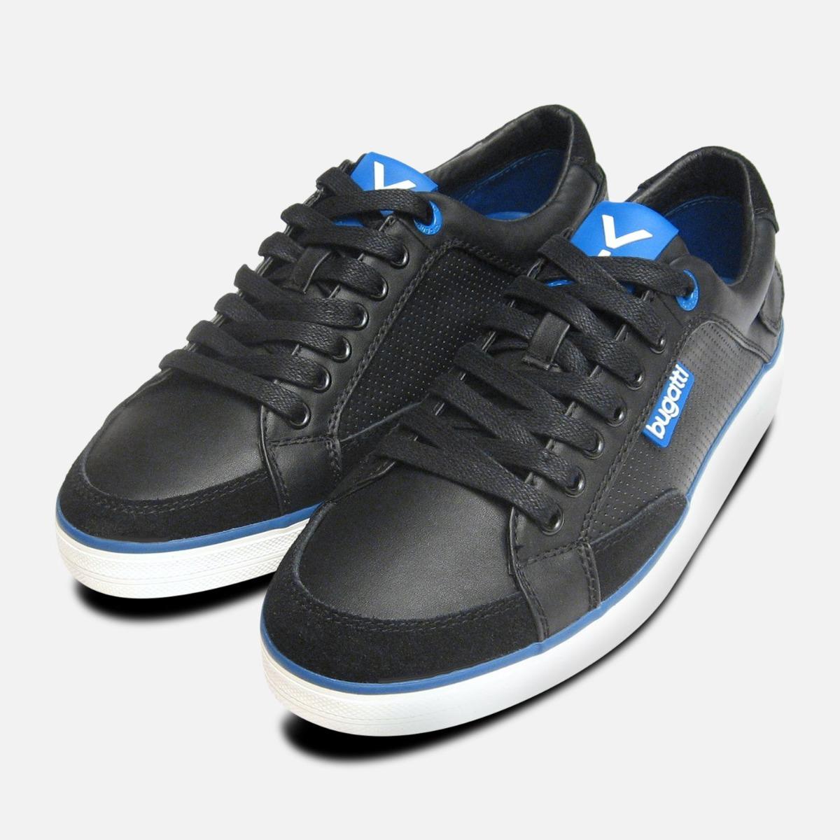 Black \u0026 Navy Blue Leather Mens Designer