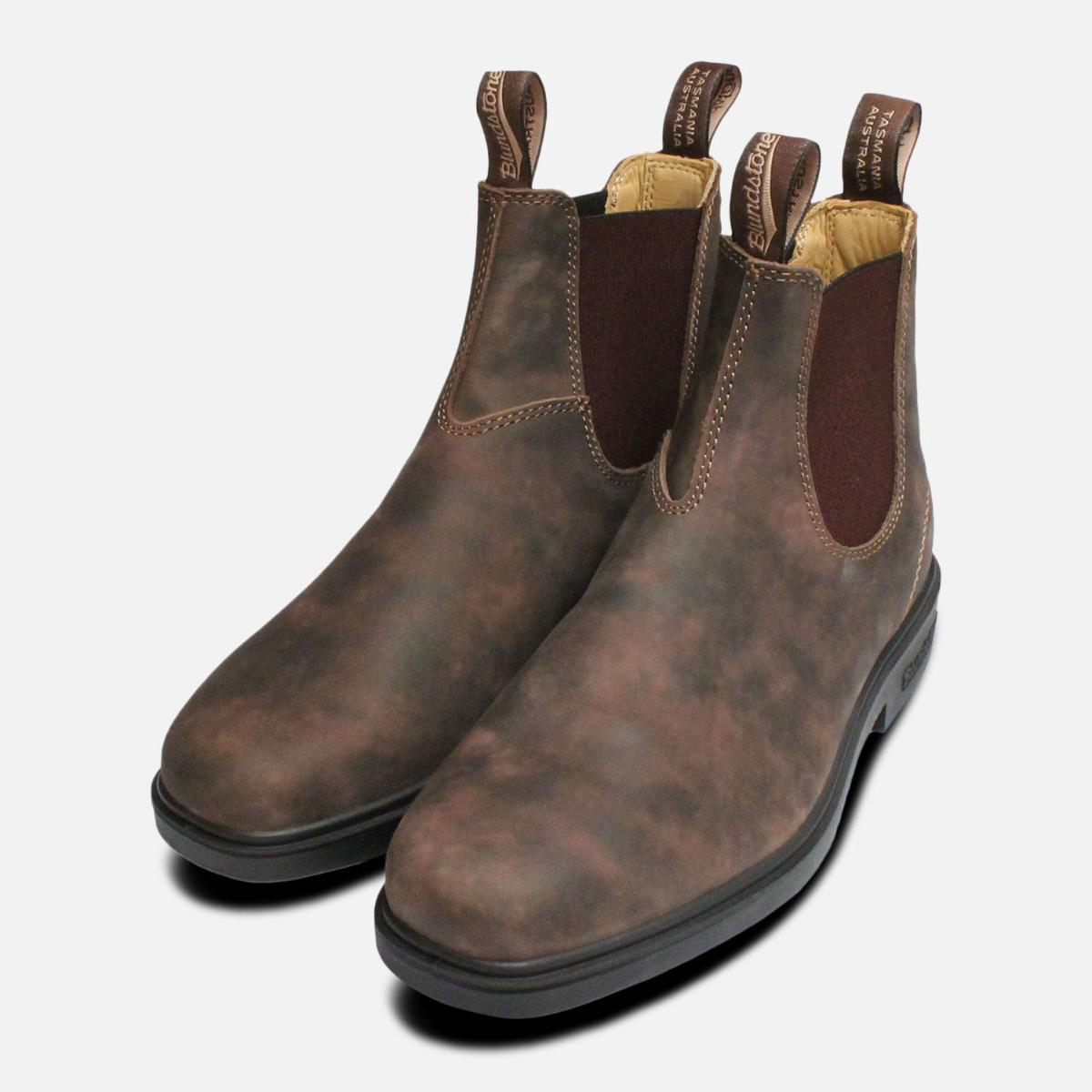 selezione migliore 2a61b d734e Dettagli su Punta Quadrata 1306 Rustico Marrone da Uomo Blundstone Boots