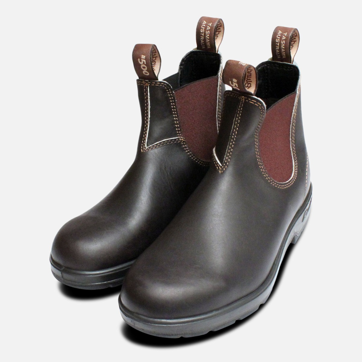 668ea98dd20 Details about Mens Round Toe Stout Brown Blundstone 500 Boots
