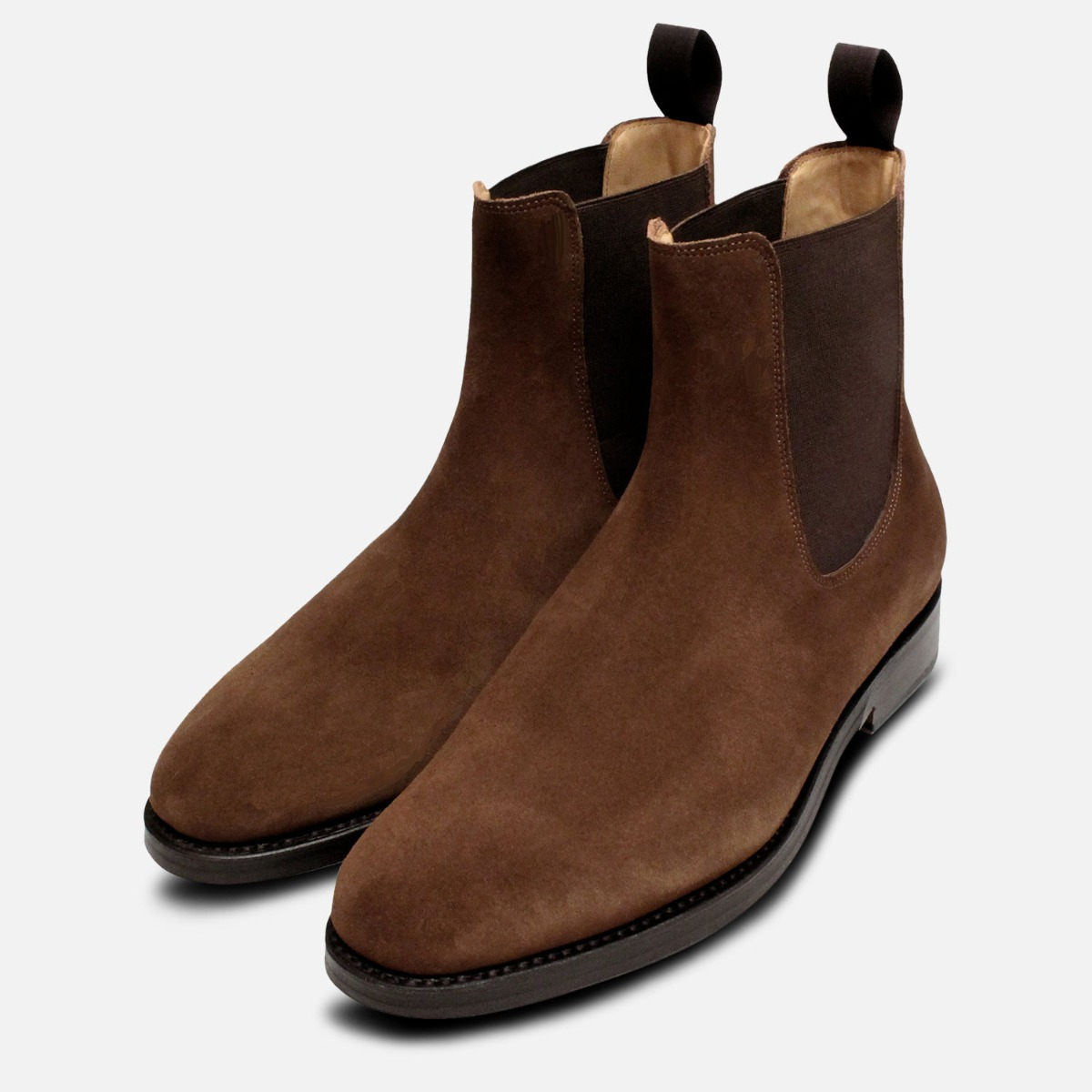 Brown Suede Goodyear Welted Wholecut