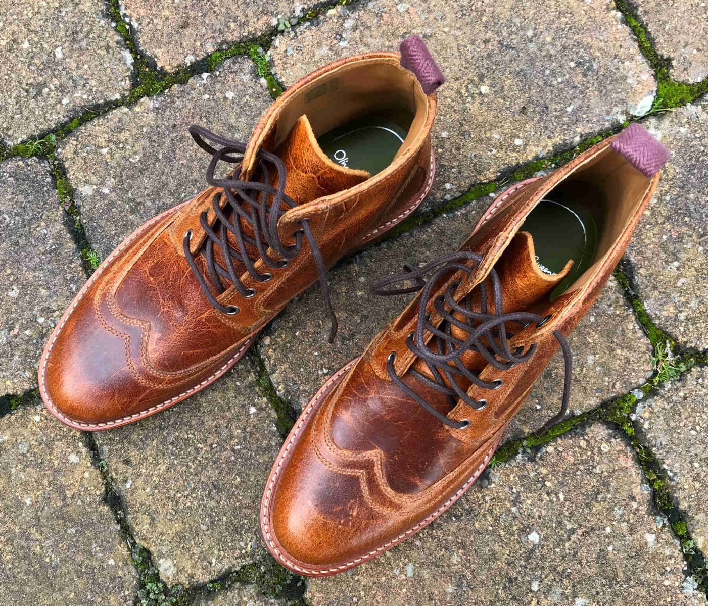 Oliver Sweeney Bruce in Waxy Brown Butts Leather