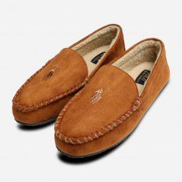 c99e5372 Ralph Lauren Polo Dezi 4 Snuff Brown Mens Slippers