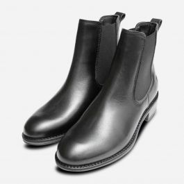 genuine shoes low price new photos Black Leather Tamaris Ankle Chelsea Boots for Women