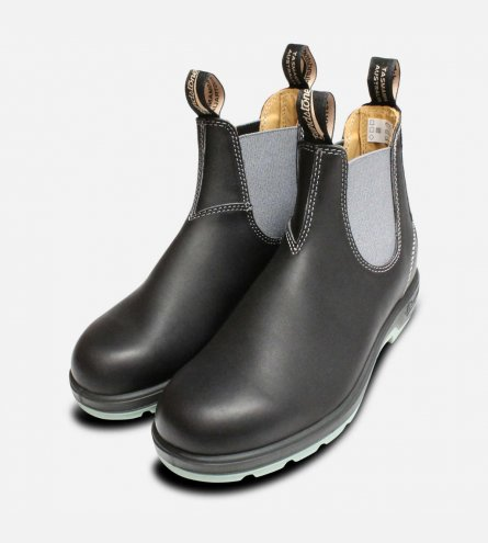 Black & Grey Mens 1452 Blundstone Chelsea Boots
