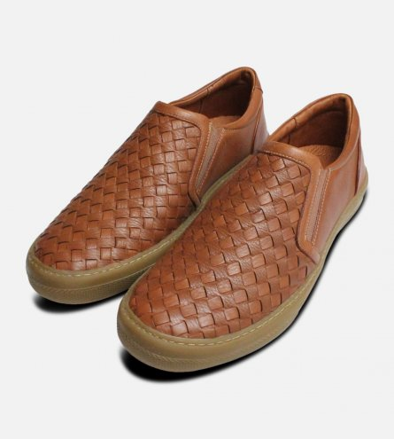 Brown Weave Loafers for Men by Anatomic Shoes