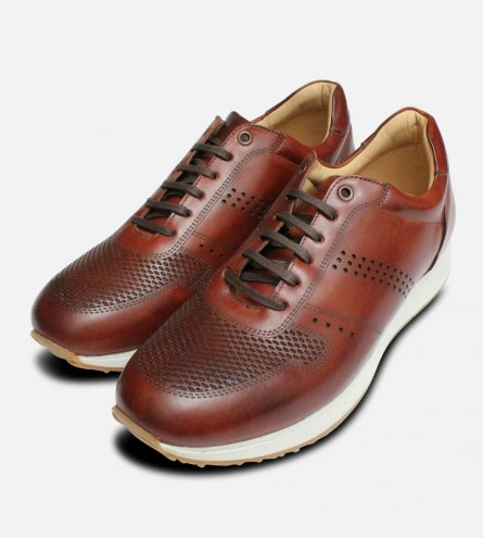 Chestnut Brown Leather Anatomic Comfort Casual Lace