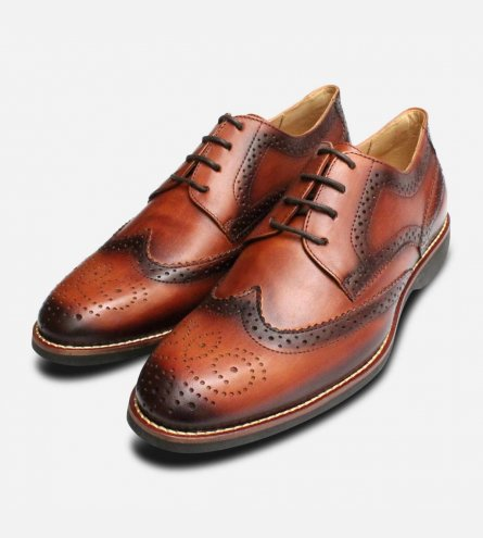 Brushed Tan Mens Wingtip Brogues by Anatomic Shoes b9fab76c2567
