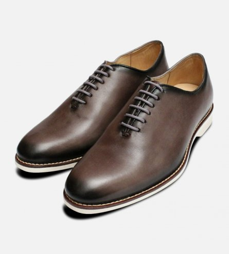 Grey Wholecut Oxford Lace Up by Anatomic Shoes