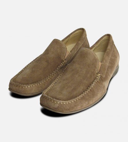 Beige Suede Moccasin Loafers by Anatomic & Co