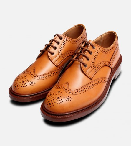 Trickers Anne in Acorn Tan Ladies Brogue Shoes