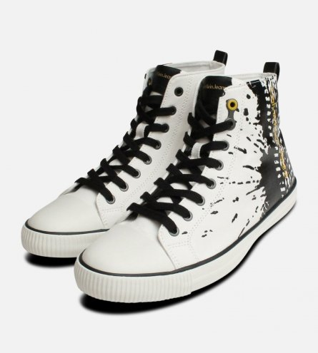 Anton Off White Calvin Klein Hi Top Paint Boots