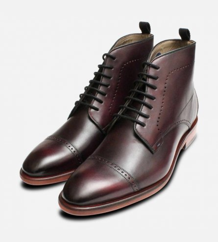 Luxury Oliver Sweeney Oxblood Armadale Lace Boots