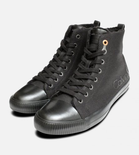 Calvin Klein Warm Lined High Tops in Black