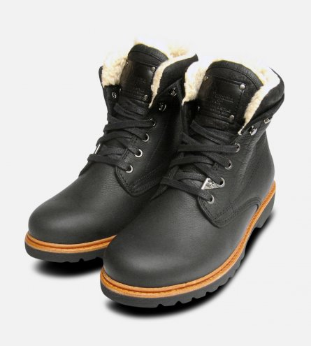 Black Havana Joe General Aviator Cotton Lined Mens Boots