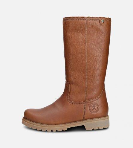 Panama Jack Ladies Bambina Waxy Bark Brown Boots