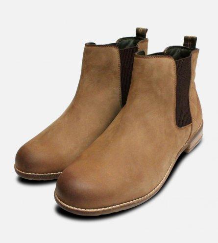 Cognac Brown Barbour Abigail Slip On Chelsea Boots