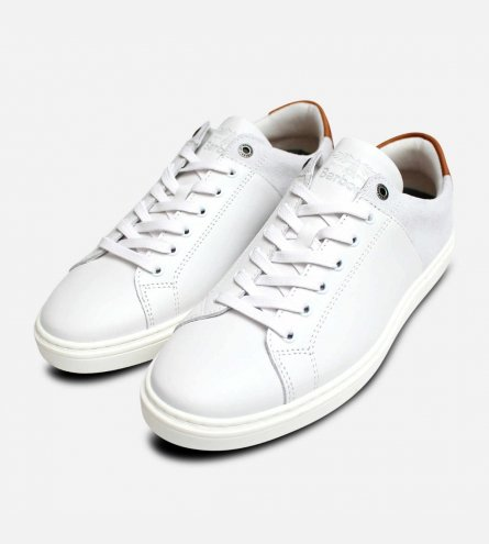 Luxury Barbour Ariel 2 Trainers in White Leather