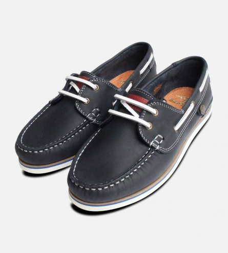 Barbour Ladies Navy Bowline Boat Shoe