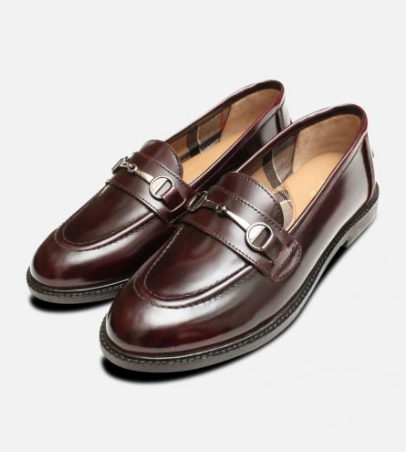 Barbour Burgundy Polished Ladies Heather Loafers