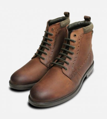 Barbour Hury Water Resistant Dark Brown Walking Boot