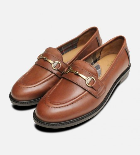 Barbour Chestnut Brown Ladies Heather Loafers