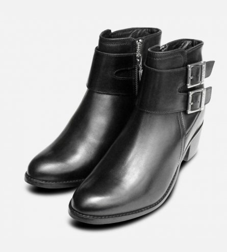 Barbour International Premium Inglewood 2 Black Buckle Boots