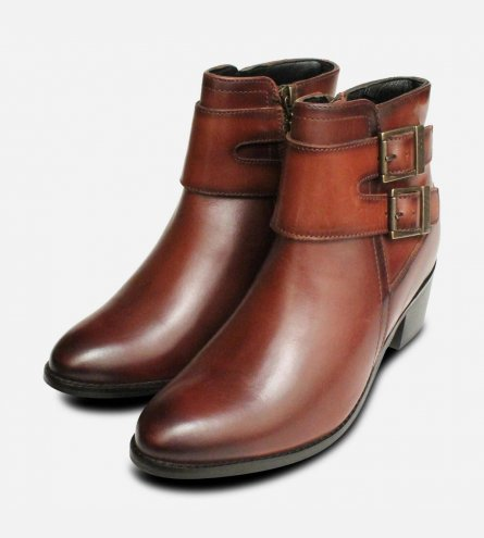 Barbour International Premium Inglewood 2 Buckle Boots in Tan