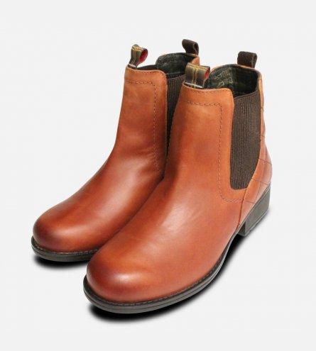 Barbour Rimini Weatherproof Chestnut Chelsea Boots