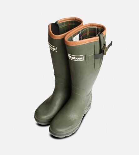 Barbour Tempest in Olive Green Wellington