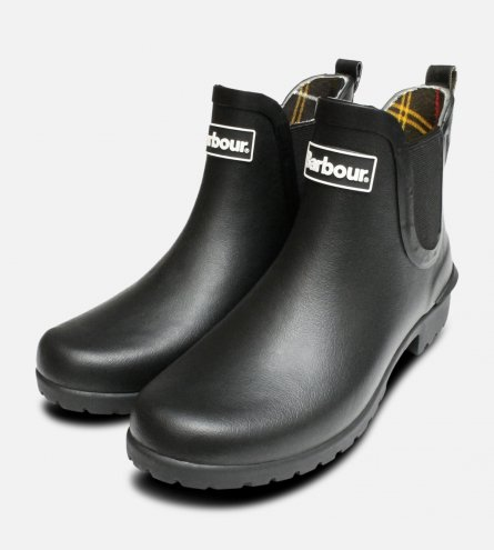 Barbour Ladies Wilton Chelsea Boot Wellies in Black