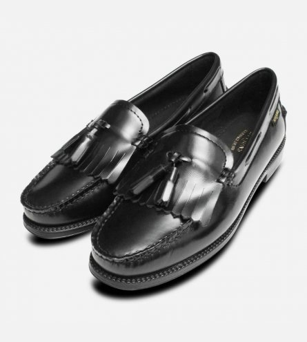 Bass Rubber Sole Ladies Esther Kiltie Black Loafer Shoes