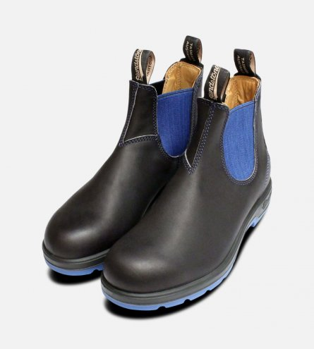 Ladies Blundstone 1403 Black & Blue Chelsea boots