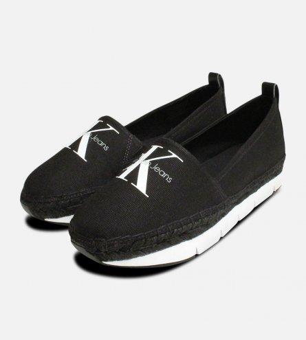 Calvin Klein Shoes Genna Canvas Espadrilles in Black