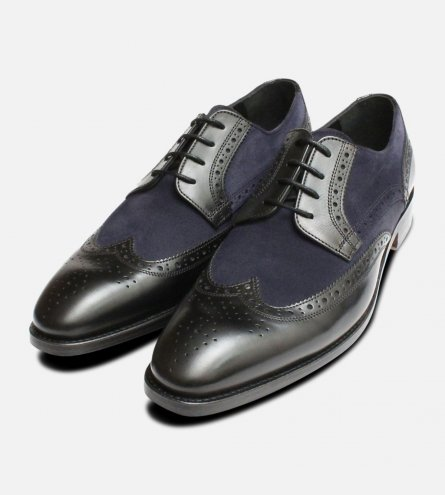 680c4f841 Spectator Brogues in Black & Navy by John White Shoes