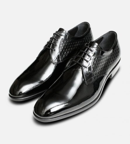Italian Luxury Black Patent Leather Dress Shoes