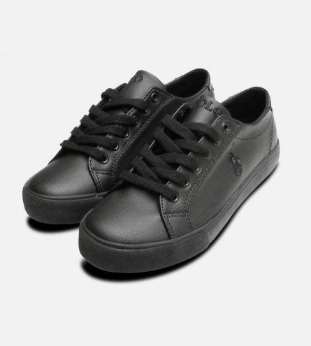 Smart Black Junior Ralph Lauren Polo Slater Shoes