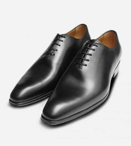 Black Wholecut Oxford Mens Shoes