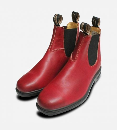 Ladies Blundstone Burgundy 1302 Rubber Sole Chelsea Boot