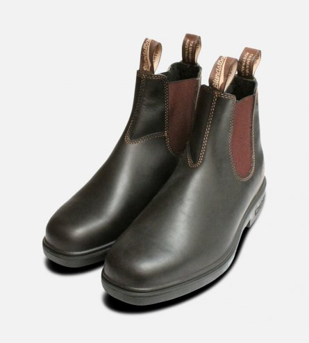 Square Toe Stout Brown Blundstone Chelsea Boot
