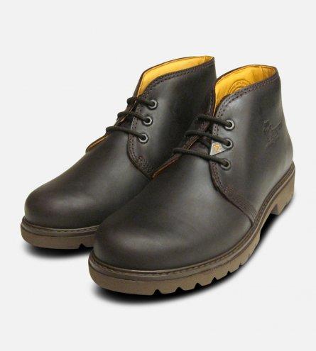 Mr Panama Jack Dark Brown Waxy Waterproof Havana Joe Boots