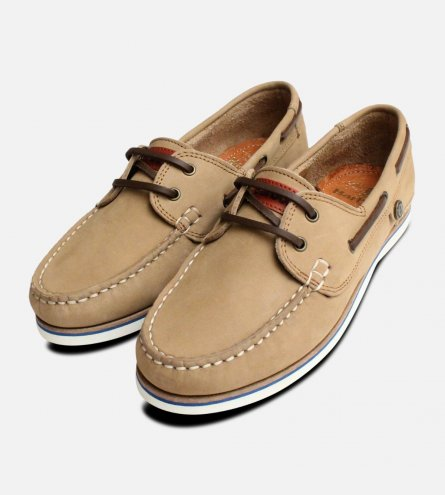 Barbour Ladies Beige Bowline Boat Shoes