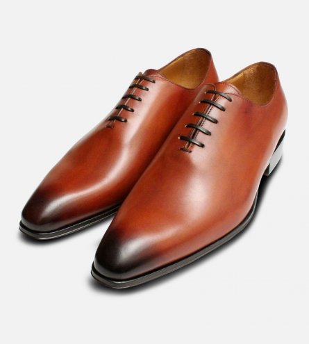 Tuscan Tan Mens Wholecut Oxford Shoes
