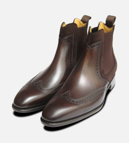 Conquer Carlos Santos Mens Boot in Brown Leather