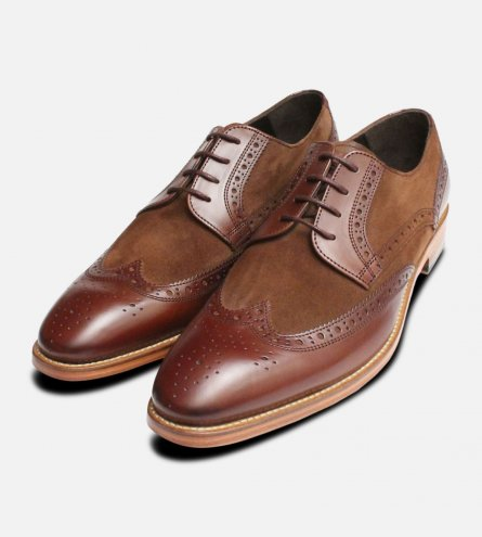 Spectator Brogues in Brown & Suede by John White Shoes