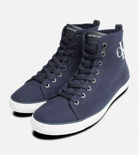Navy Blue Arthur Hi Tops by Calvin Klein Shoes S0367